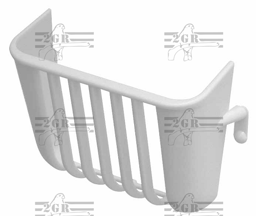 Nesting Material or Salad Holder - White Plastic