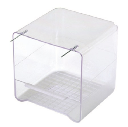 Clear Bird Bath for Cage Birds outside mount - Bird Bath