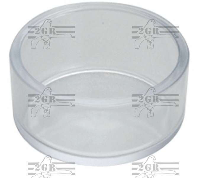 2GR Heavy plastic round feeding dish for cage Birds 3in diameter 1/14 deep - Bird Cage Accessory