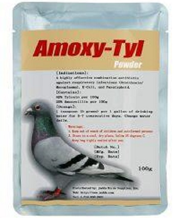 Amoxicillin 15%  & Tylosin 30% - Antibiotic for sick birds-Bird Medicine