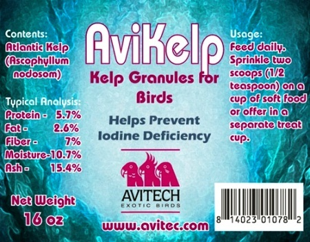 AviKelp Granules - Cage Bird Whole Food Supplement