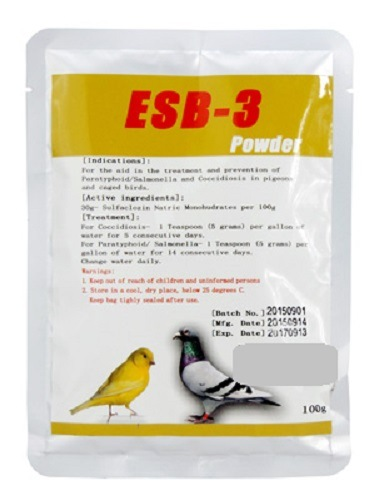 ESB-3- Medication of Coccidia - Bird Medicine Antibiotic