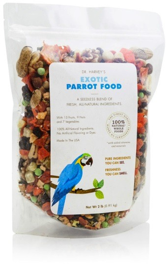 Exotic Parrot Food from Dr. Harvey's Bird Food