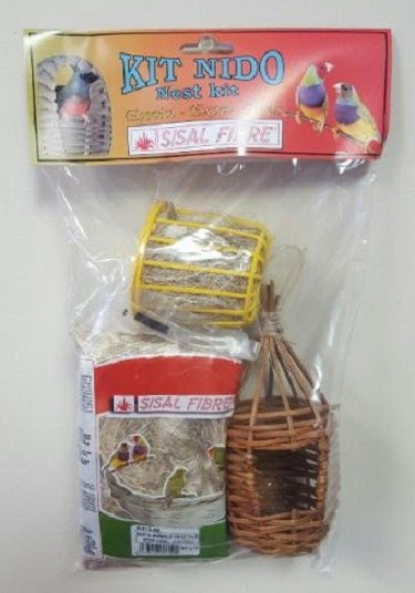 Finch Nestkit - Finch Breeding Supplies - Nest, nesting material, nesting wheel