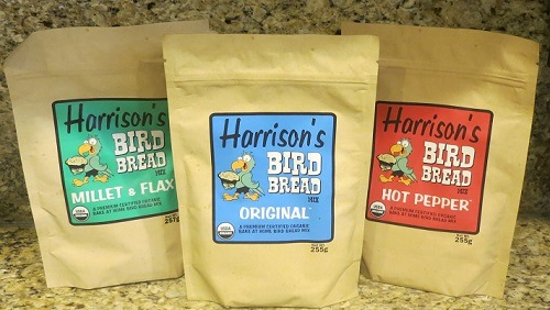 Harrison's Certified Organic Bread Mixes- 3 flavors, original, hot pepper & Flax Organic Bird Good