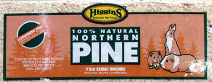750 cubic inches compressed Northern Pine for nest boxes by Higgins