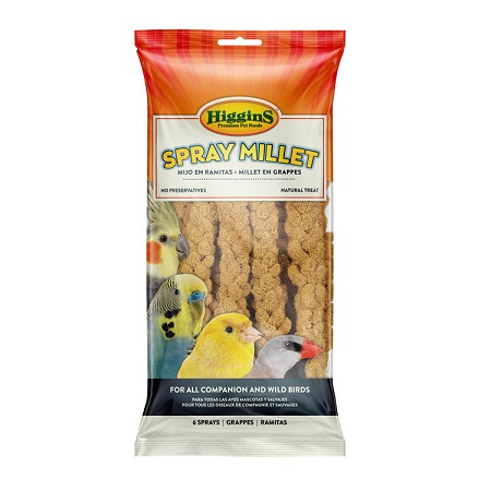 5 oz bag of Higgins Snack Attack Spray Millet 6 sprays 10