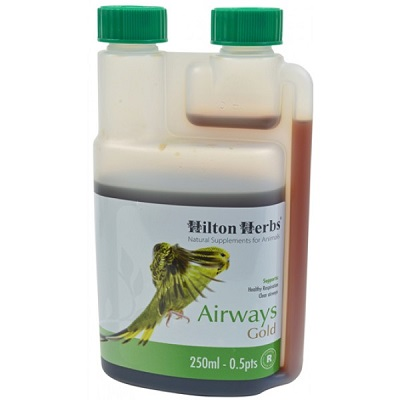 Airways Gold natural supplement for birds by Hilton Herbs