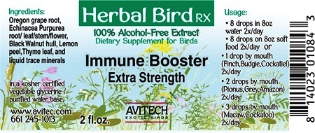 Immune System Booster - Bird Herbal RX - Herbal Bird Remedy