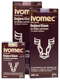 Ivomec injectable Ivermectin 1% 50 ml bottle - Mite Medication for Birds