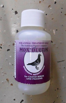 Moxidectin Worming Medication for Caged Birds