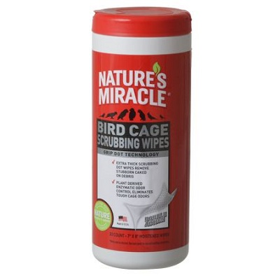 Nature's Miracle Bird Cage Scrubbing Wipes - Cage Cleaner