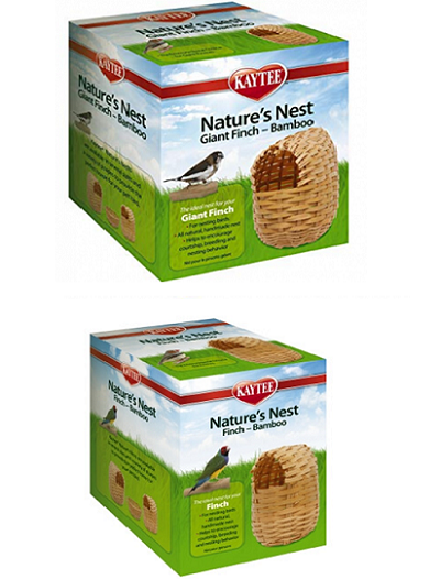 Kaytee Bamboo Finch Nest - 2 sizes - Finch Breeding Supplies