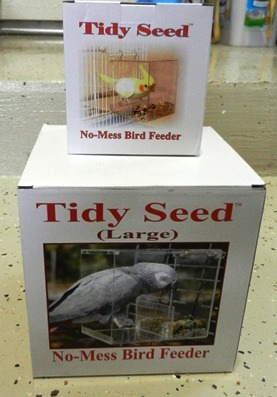 Tidy Seed No Mess Feeder - Pet Bird Cage Accessories