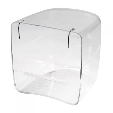 Clear Bird Bath for Cage Birds outside mount - Bird Cage Accessory