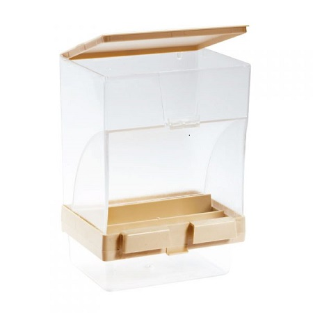 Plastic Gravity Seed Hopper - Vacation Feeder - Finch Cage Accessories