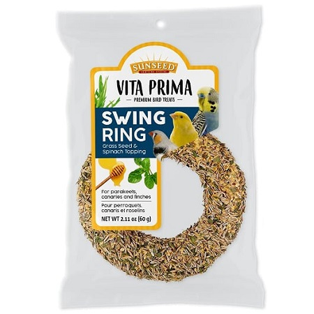 Sunscription Vita Prima Swing Ring - Parakeet, Canary and Finch Supplies - Bird Food