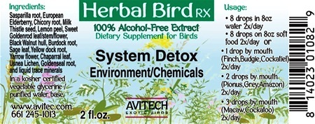 System Detox - Bird Herbal RX - Environmental/Chemical