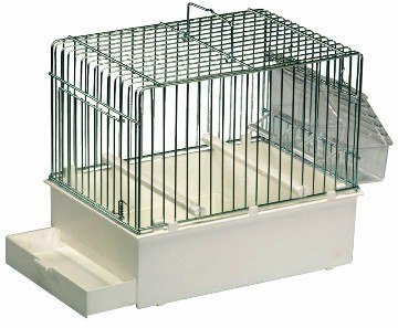 Abba Travel Cage 9.5 X 6.5 X 7.75, includes perches & feeders - Finch and Canary Supplies