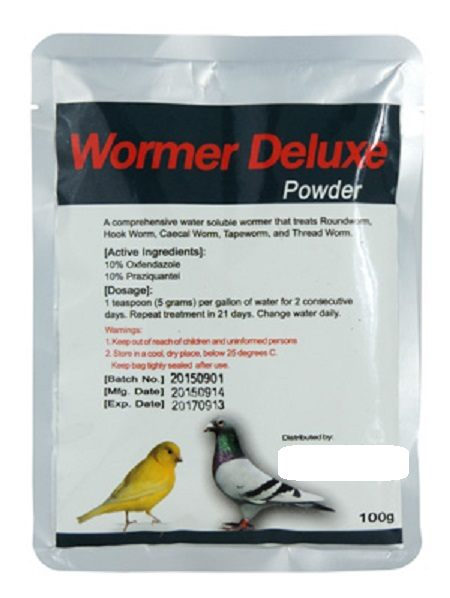 Wormer Deluxe Avian Wormer - Parasitics for Birds