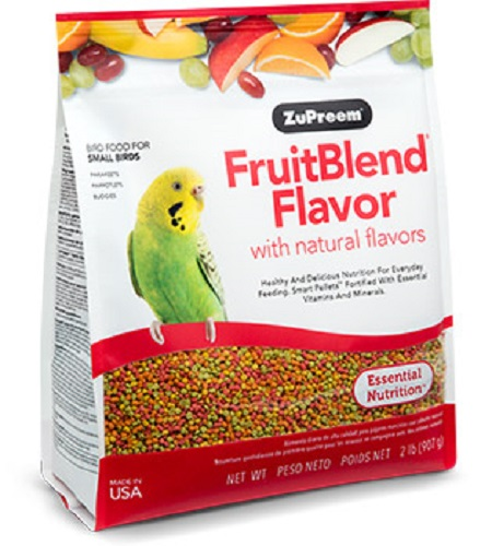 Zupreem S Fruitblend Flavor Pellets for Parakeets, Budgies, Parrotlets and other small birds that prefer this pellet size - Parakeet Supplies