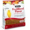 Zupreem Fruitblend Canary and Finch pellets.